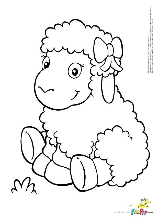 618x857 Sheep Coloring Pages To Print Awesome On