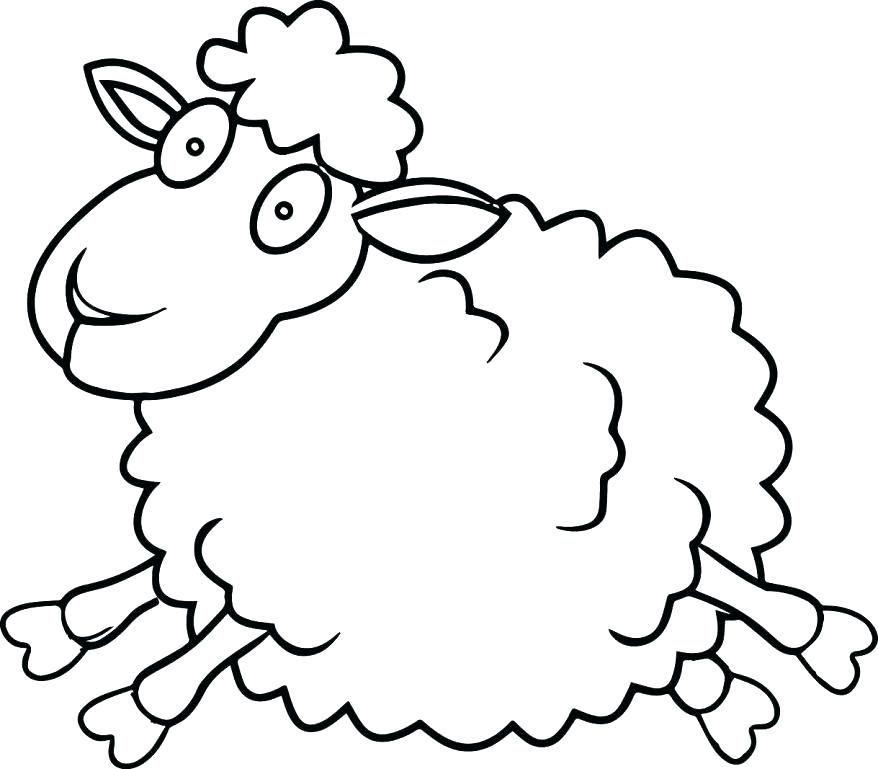 878x769 Sheep Coloring Picture Lamb Colouring Page 2 Pictures Of