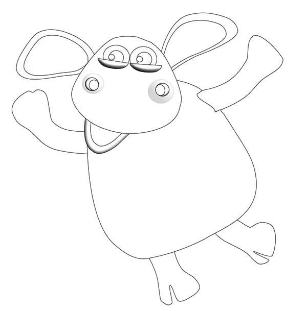 600x609 Timmy Is Shaun The Sheep Cousin Coloring Page Color Luna