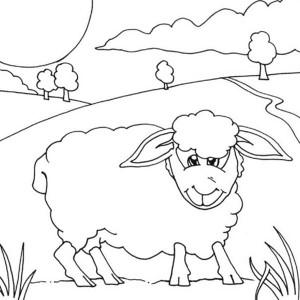 300x300 Kids Drawing Shaun The Sheep Coloring Page Kids Drawing