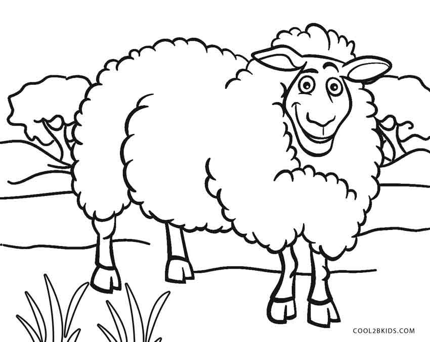 850x677 Sheep Face Coloring Page