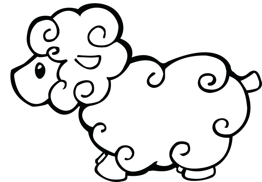 900x626 Sheep Coloring Pages