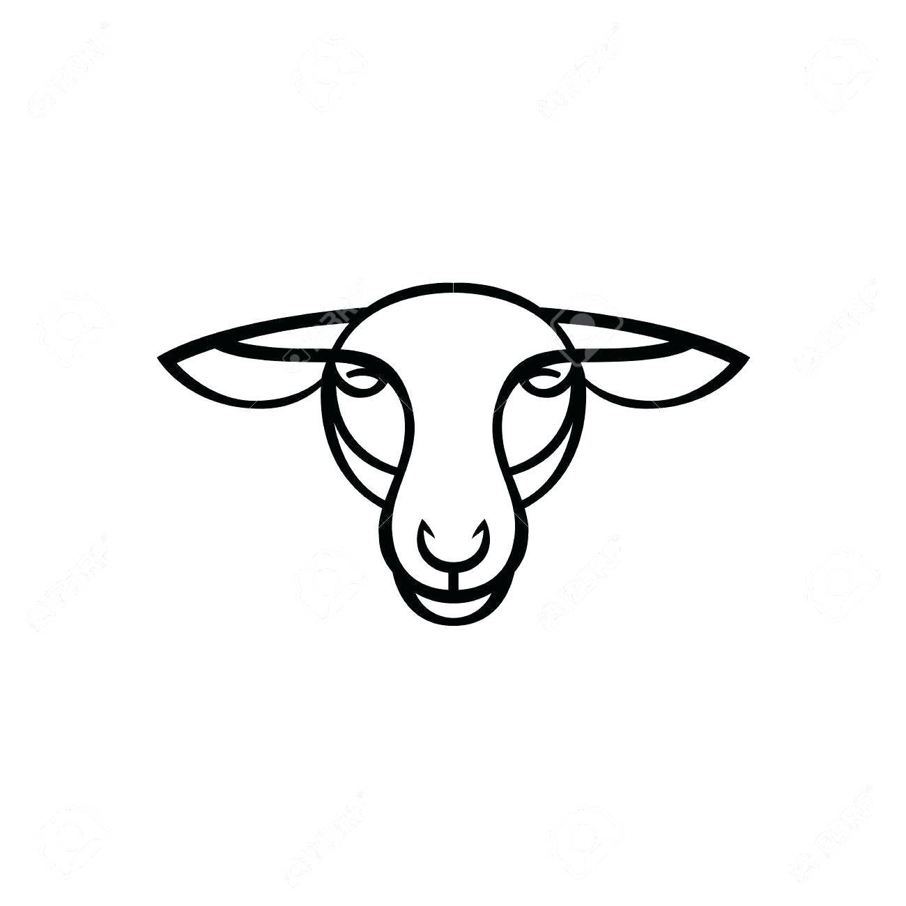 Sheep Face Drawing at GetDrawings.com | Free for personal use Sheep ...