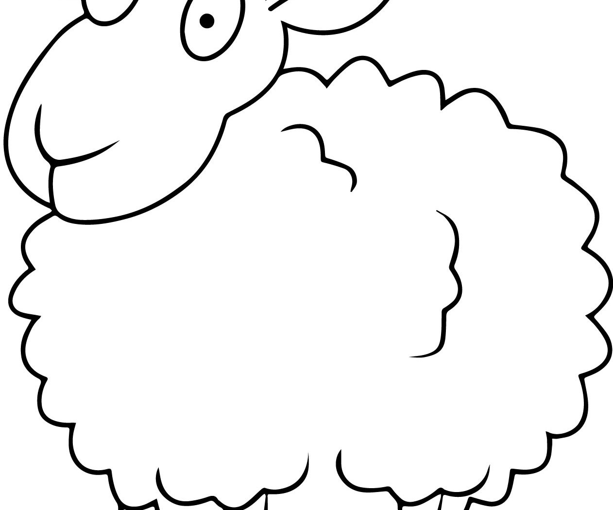 free sheep head coloring pages | Sheep Head Drawing at GetDrawings.com | Free for personal ...