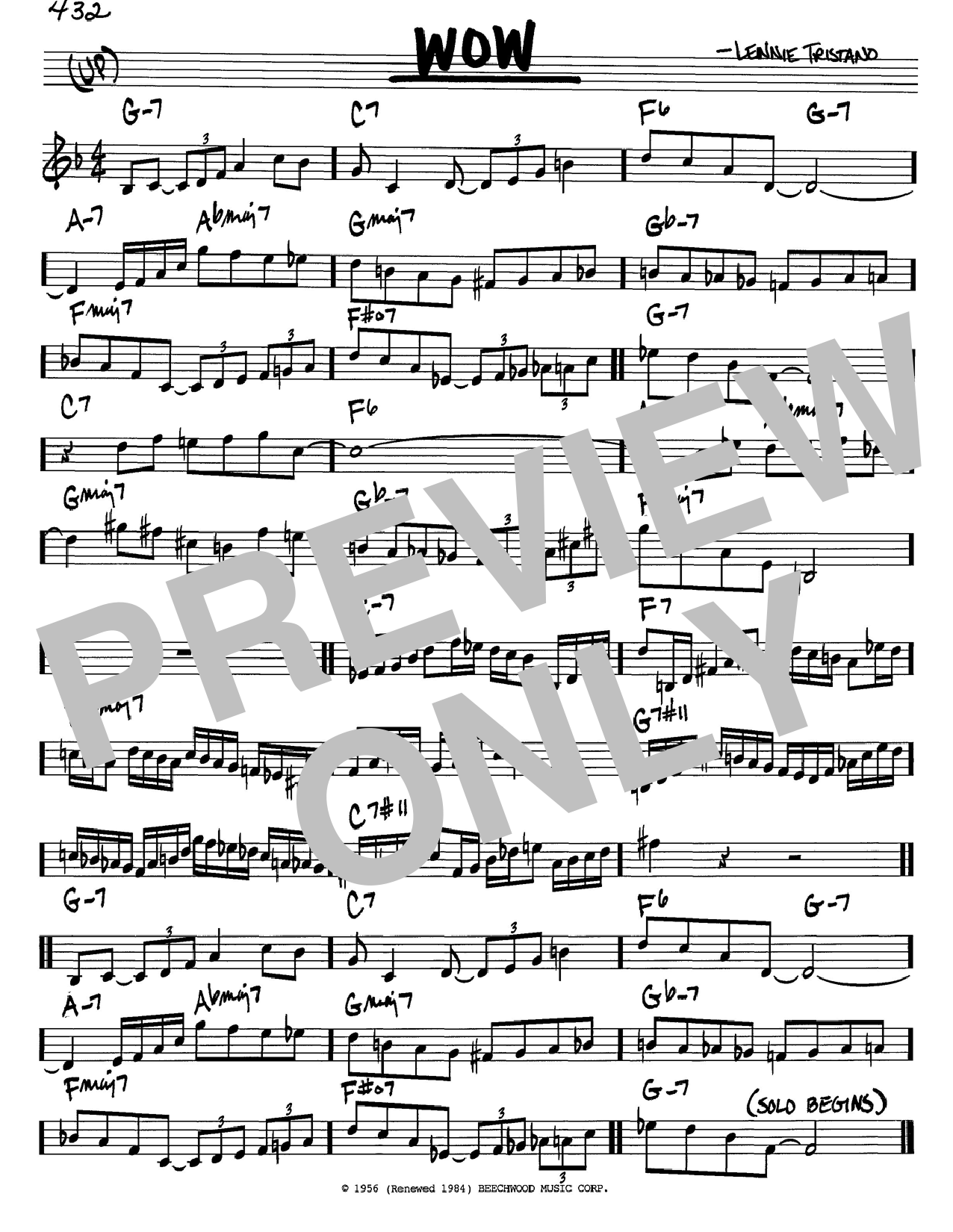 1276x1650 Wow Sheet Music By Lennie Tristano (Real Book
