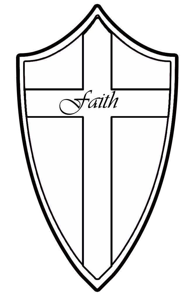640x1000 Shield Of Faith Coloring Page