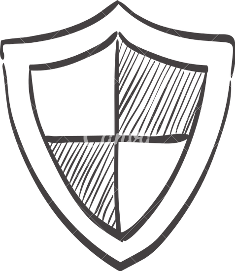 477x550 Sketch Icon Of A Shield