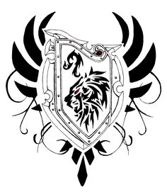 236x271 Tribal Shield Tattoo Design By Axelfear On Shield