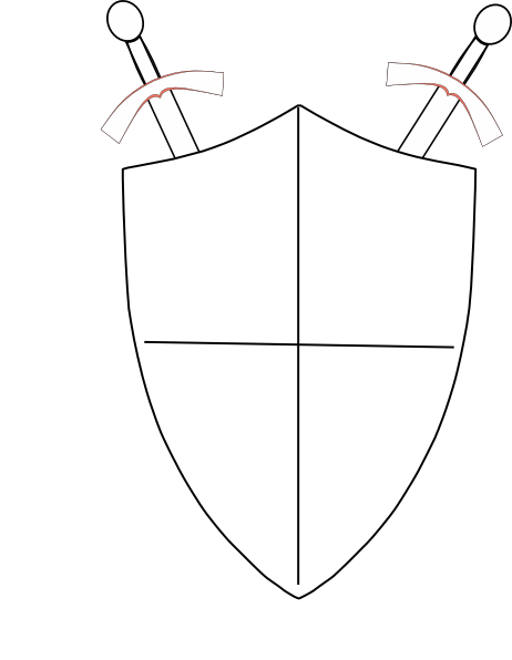 462x596 Crossed Swords And Shield Clip Art