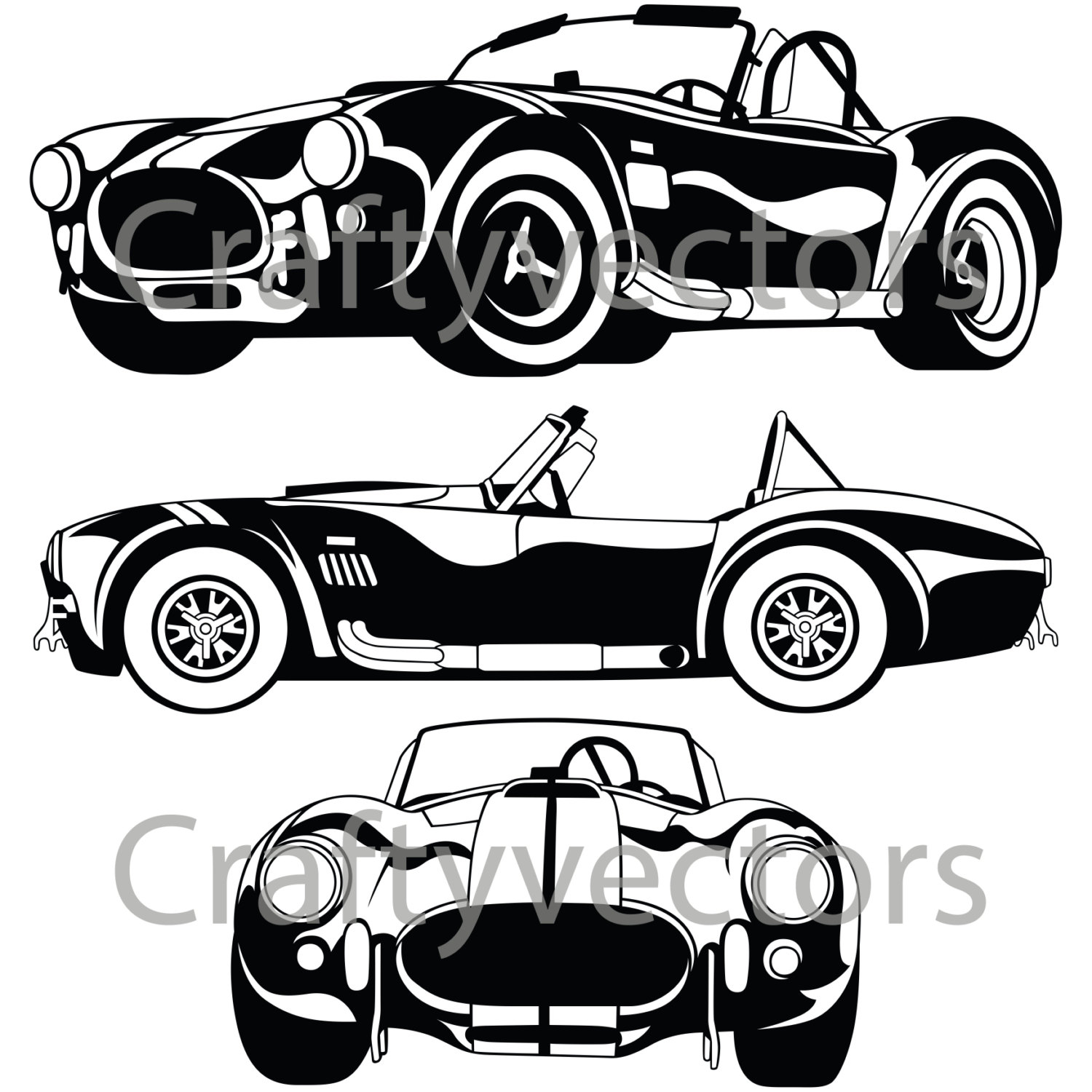 1500x1500 Shelby Ac Cobra 67 Vector File