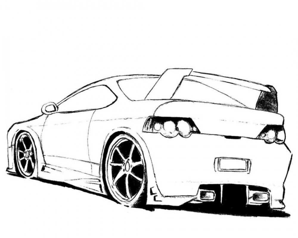 1000x800 Cool Cars Coloring Pages