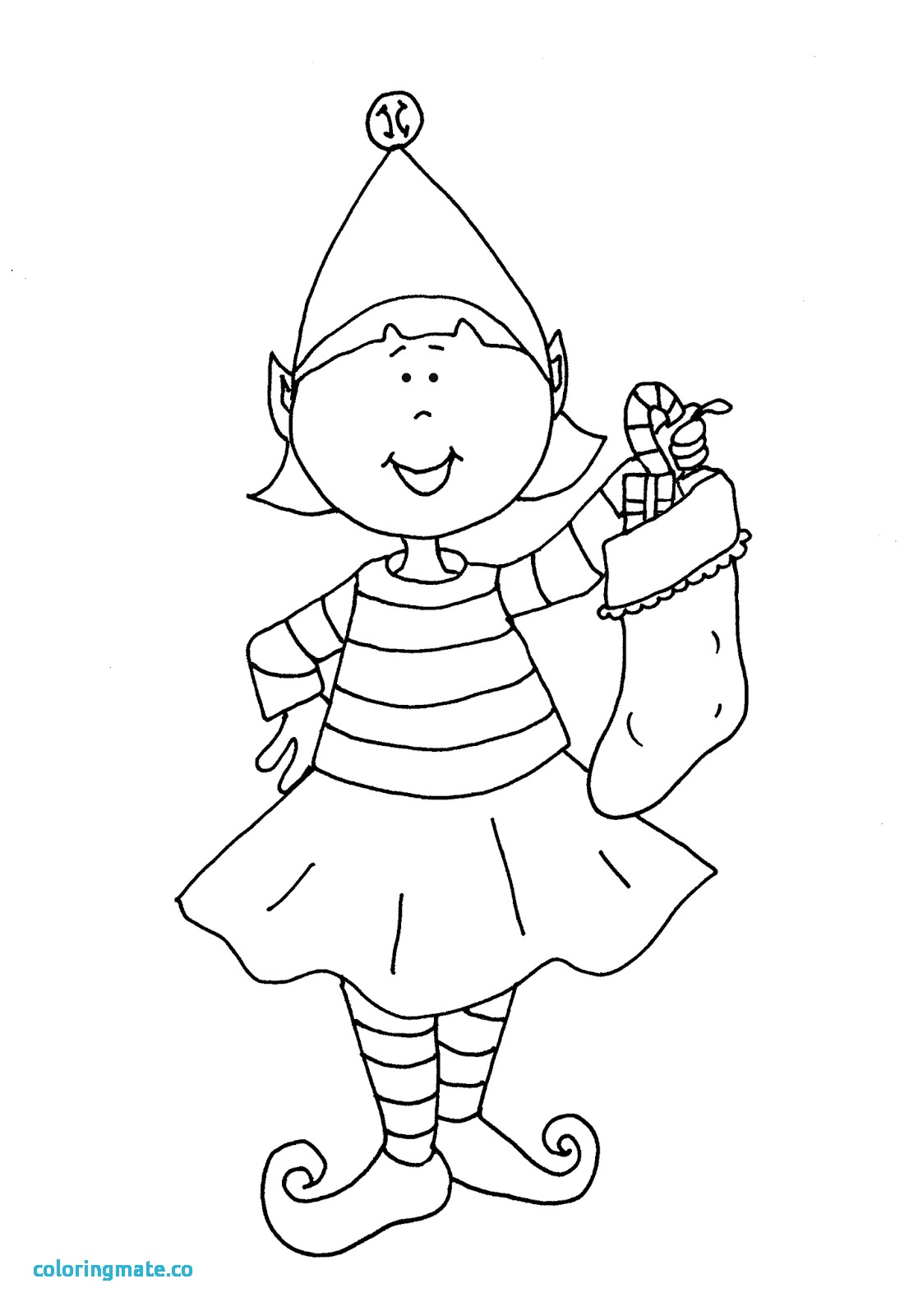 1106x1600 Elf On Shelf Coloring Pages Fresh Items Similar To Elf On