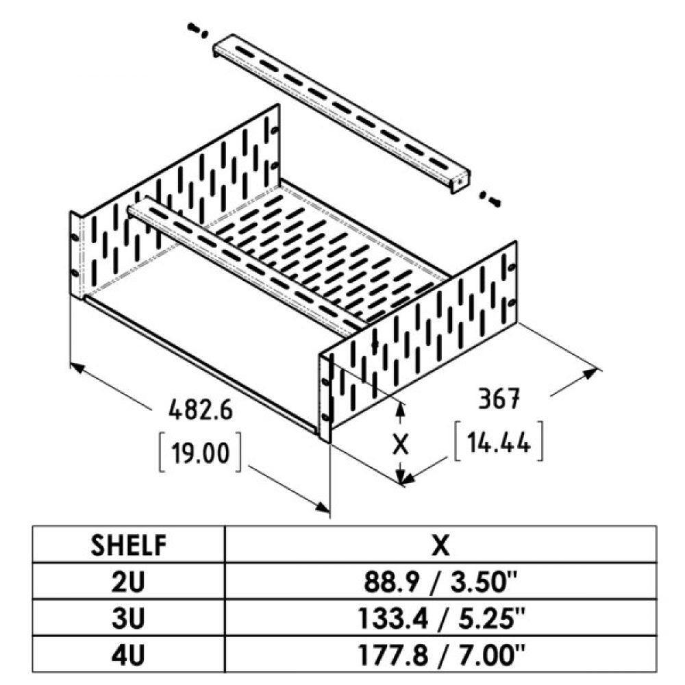 1000x1000 Clamping Rack Shelf