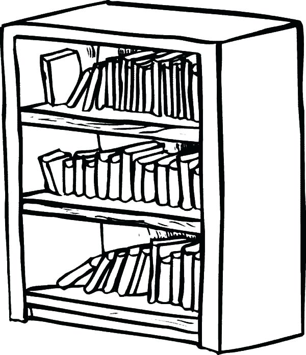 600x697 Draw Shelves Pin Drawn Book Shelf Drawing 9 Floating Drawer Shelf