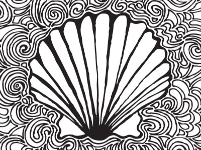 400x300 Scallop Shell Drawing Meditation By Kaitlyn Parker