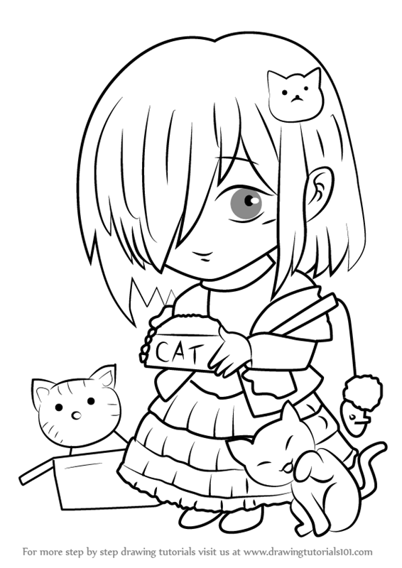 566x800 Learn How To Draw Cat Shelter Guest From Mystic Messenger (Mystic