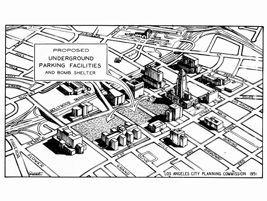 850x639 Proposed Underground Parking Facilities And Bomb Shelter, Los