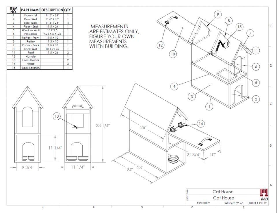 959x737 Uncategorized Cat House Plans Inside Awesome Cat House Build