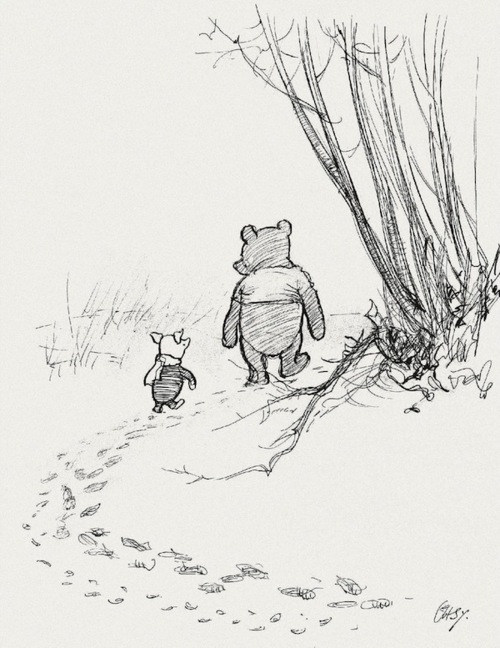 500x648 E.h. Shepard's Original Winnie The Pooh Drawings Illustration