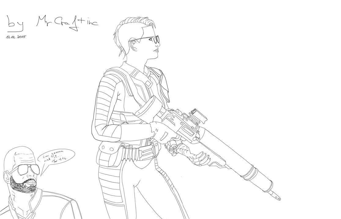 1115x717 Fallout 4 Meets Shepard By Mrcraftinc