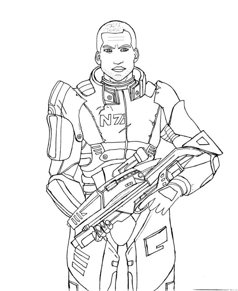 807x989 Mass Effect Shepard By Rako2010