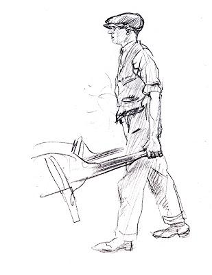 309x400 Man With Wheelbarrow By E.h. Shepard, 1924 Place Garden