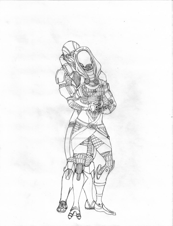 1024x1337 Tali Loves Shepard By Darchangeldavid