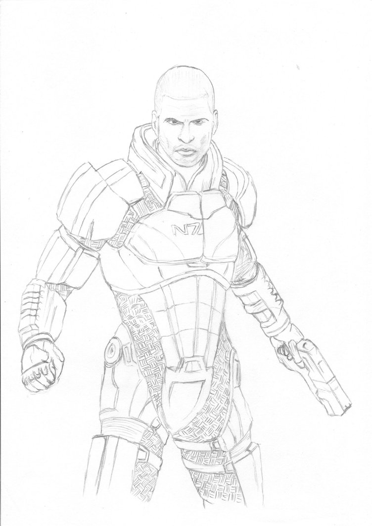 752x1063 Commander Shepard By Jazz117volkov