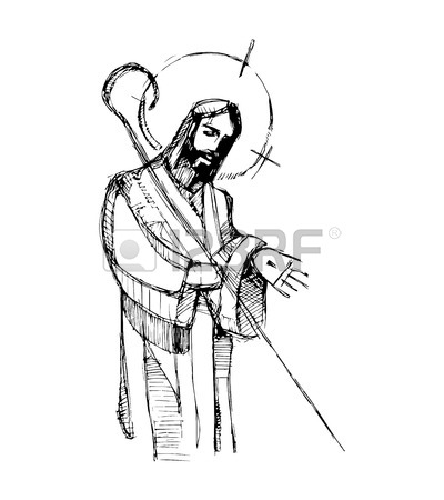 400x450 Hand Drawn Vector Illustration Or Drawing Of Jesus Christ Good