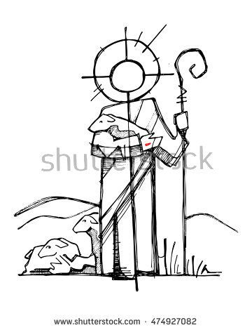 360x470 Hand Drawn Vector Illustration Or Drawing Of Jesus Christs