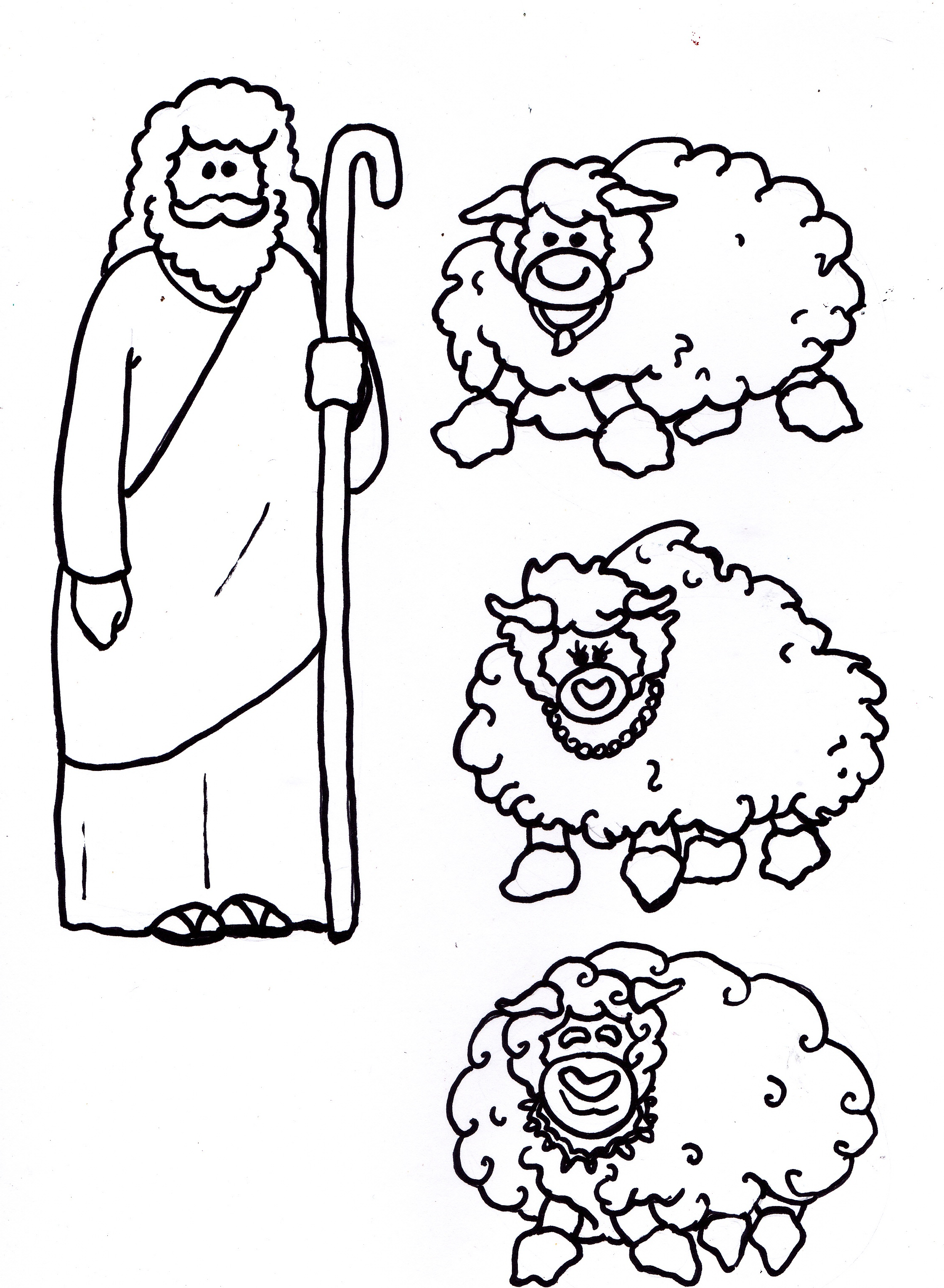 2244x3064 Jesus Is The Good Shepherd (Mobile Cutouts) Arts And Crafts