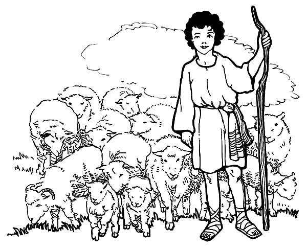 600x489 David The Shepherd Boy Coloring Pages