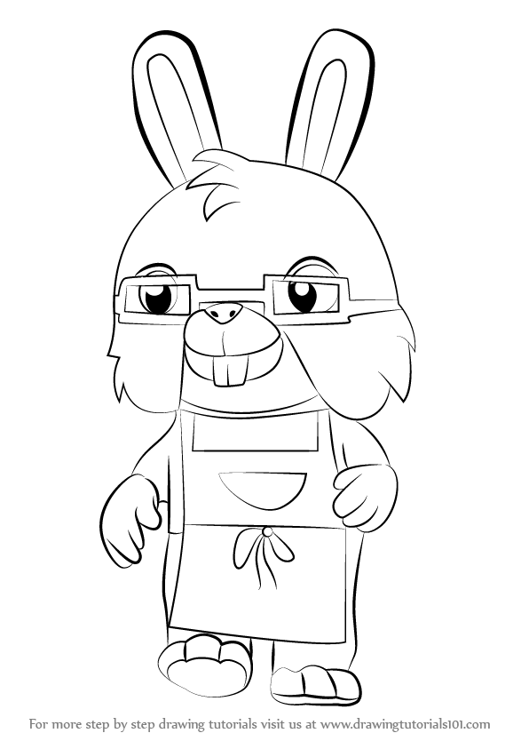 596x843 Learn How To Draw Uncle Bun From Sheriff Callie's Wild West