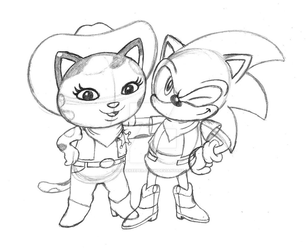 988x809 Prentis And Sheriff Callie (Sketch) By Peacekeeperj3low