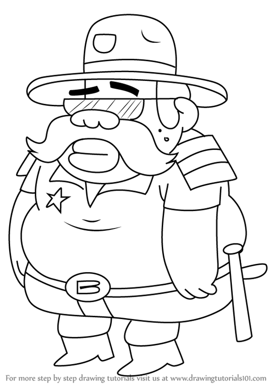 566x800 Learn How To Draw Sheriff Blubs From Gravity Falls (Gravity Falls
