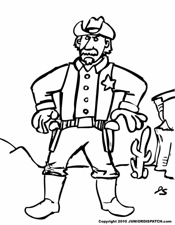Sheriff Drawing At Getdrawings Com Free For Personal Use Cars Coloring Book Pages