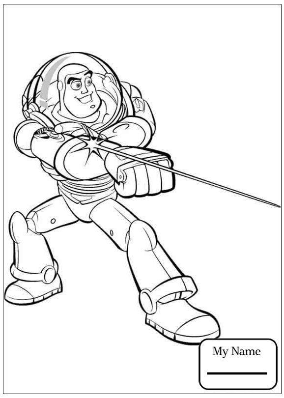 578x810 Cartoons Buzz Is Drawing Toy Story Coloring Pages For Kids