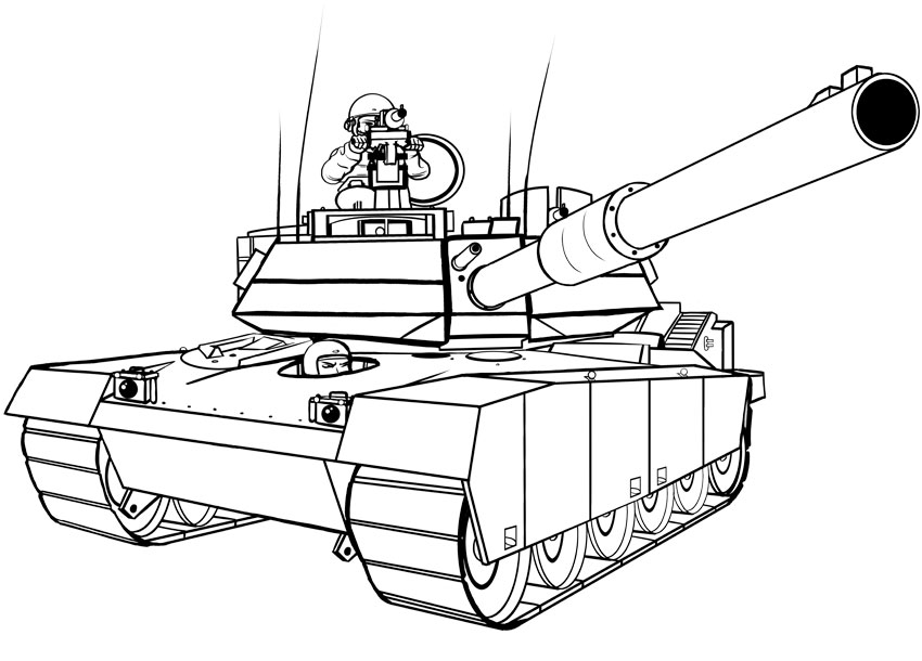 850x610 How To Draw Transport How To Draw A Military Tank
