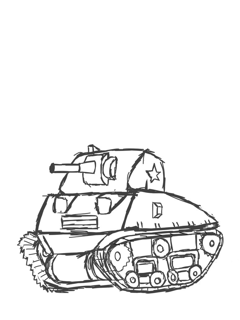 774x1032 Sherman Tank Attempt By Dwhizzkid