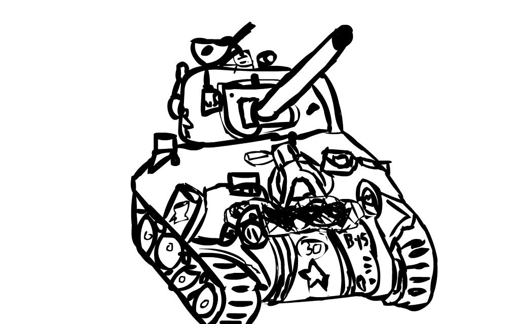 1024x640 Sherman Tank By Somethingfake