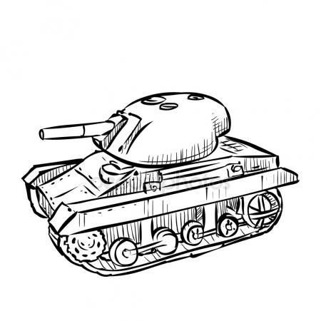 450x450 American Sherman Medium Tank Stock Vector Dergriza