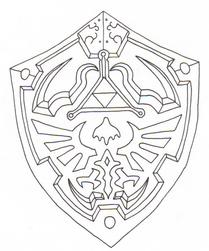687x823 Link's Shield By Ighbonk