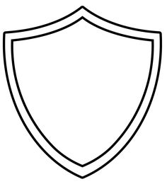 236x260 Shield Pattern. Use The Printable Outline For Crafts, Creating
