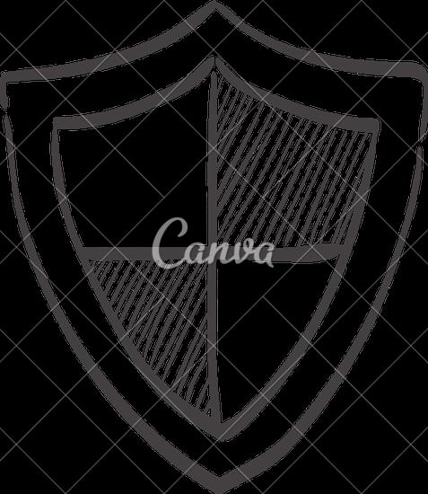 477x550 Sketch Icon Of A Shield