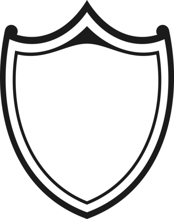 599x756 Black And White Shield Drawings