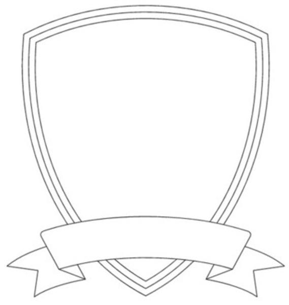 569x600 Shield Template
