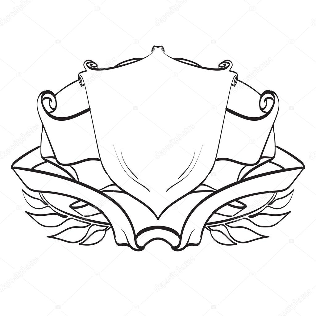 1024x1024 Oat Of Arms Shield Logo Template, Vector, Vintage Stock Vector