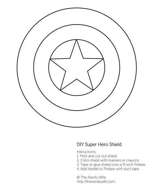 500x600 Captain America Wings Template Coloring Page