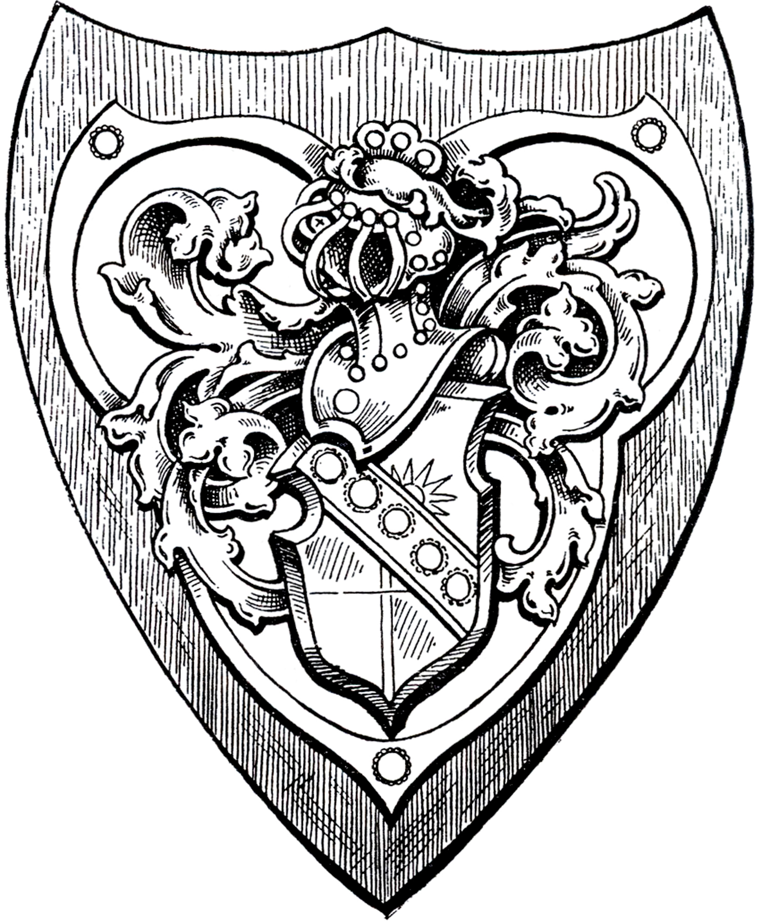1487x1800 Drawing Of A Shield