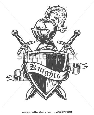 383x470 Drawn Shield Knight
